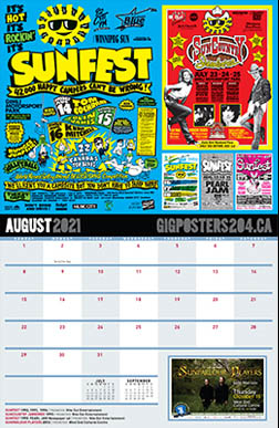 Gig Calendar - August