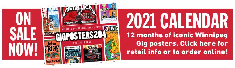 Gig Posters 2020 Calendar