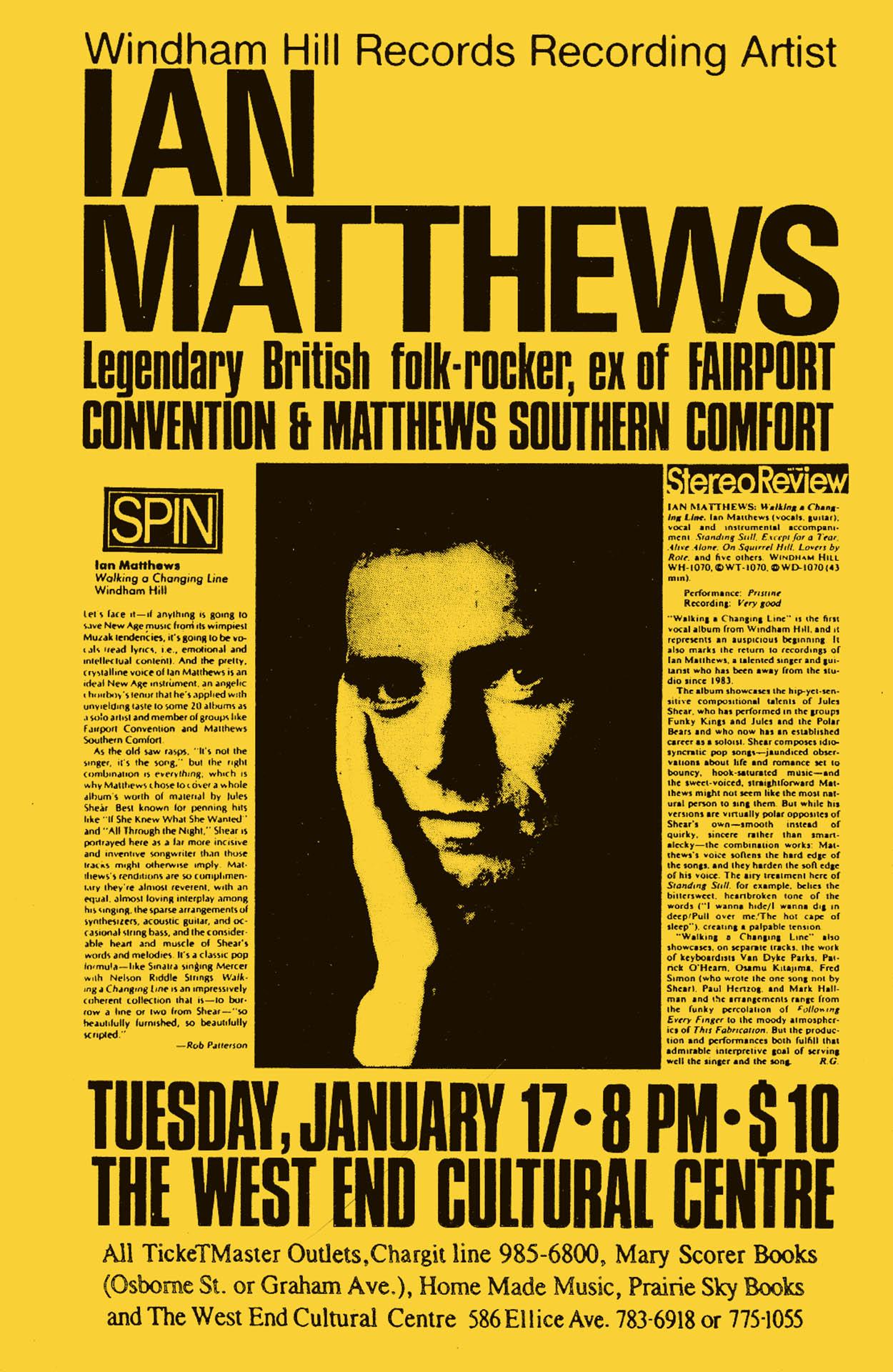 Ian Matthews - 1989