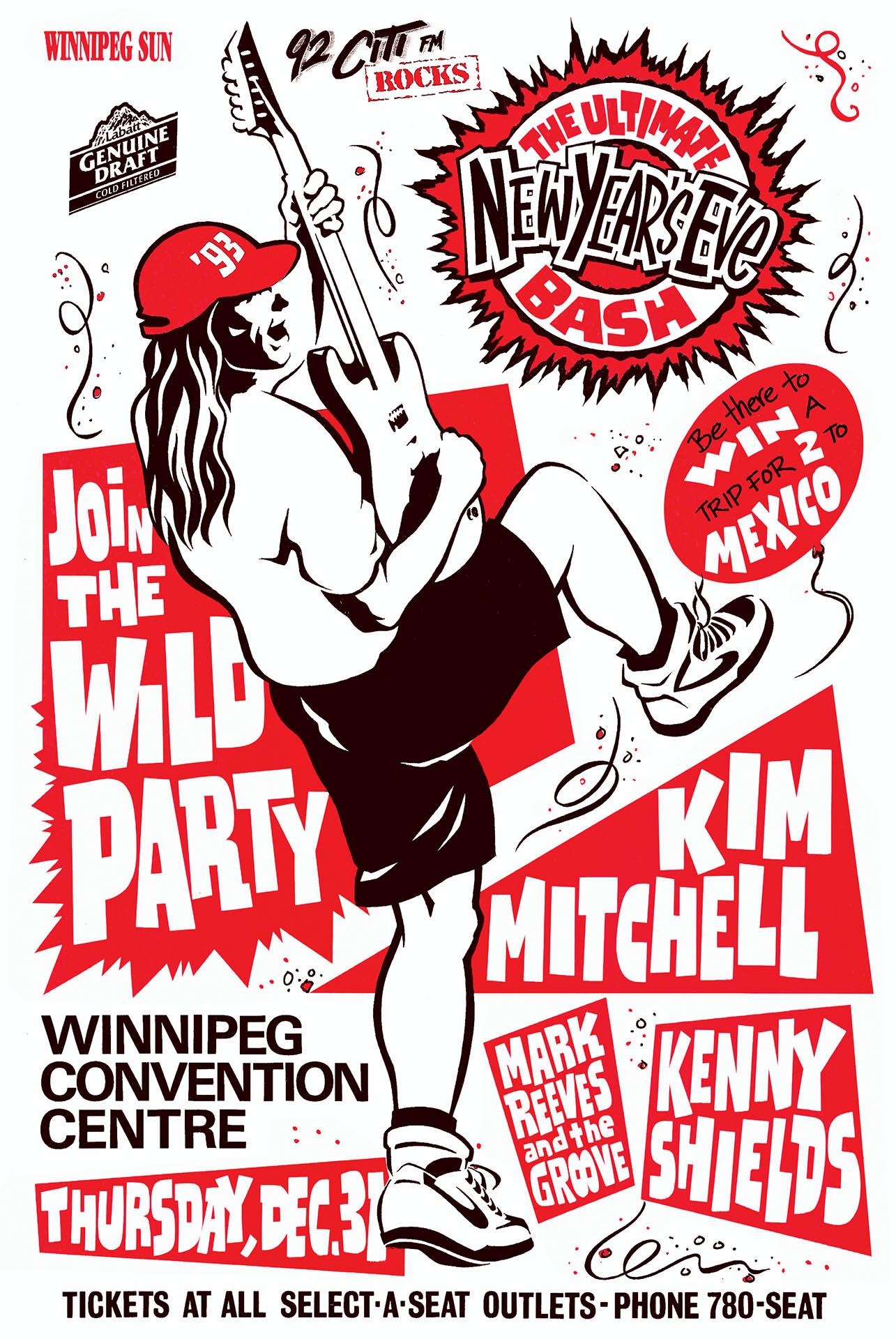 Kim Mitchell NYE - 1992
