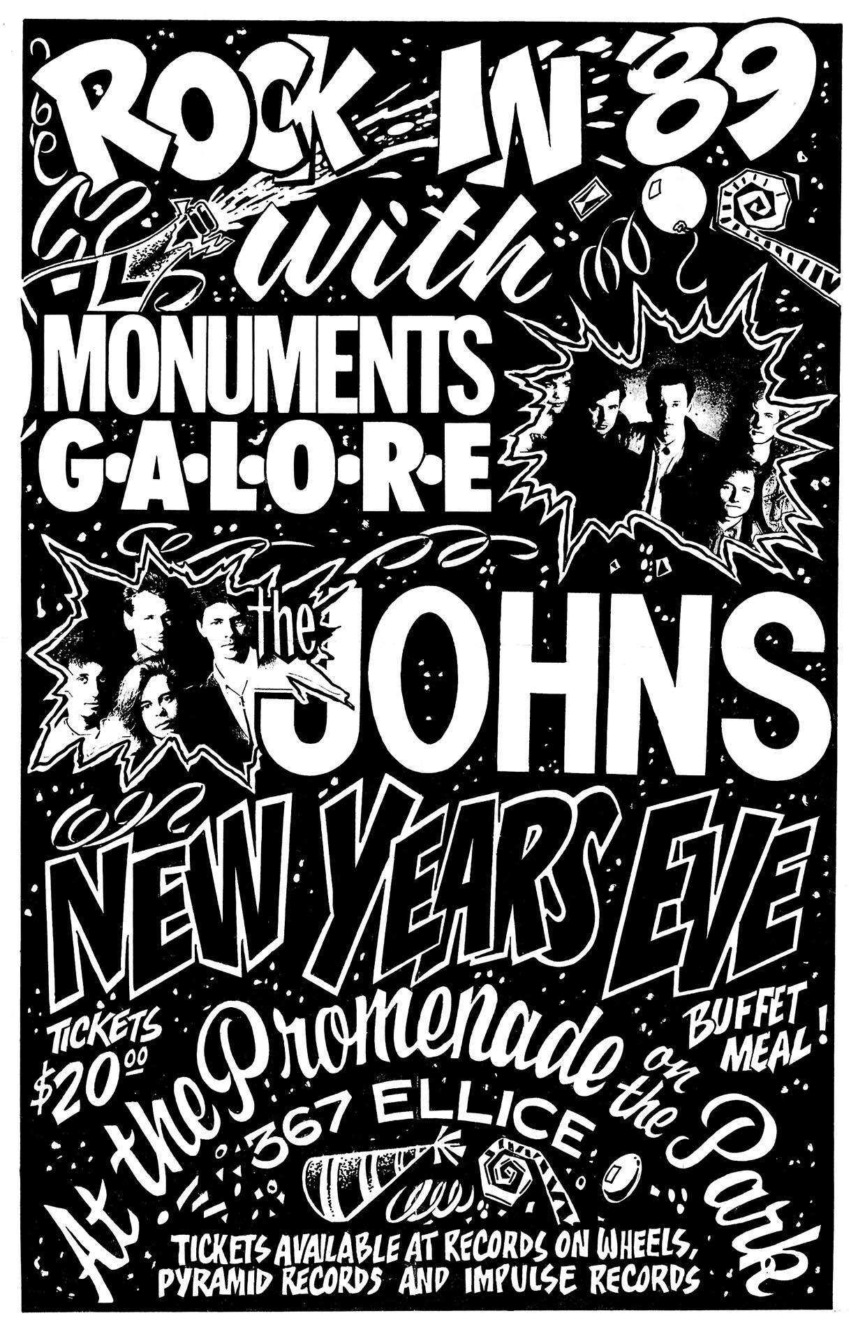 Monuments Galore NYE - 1988