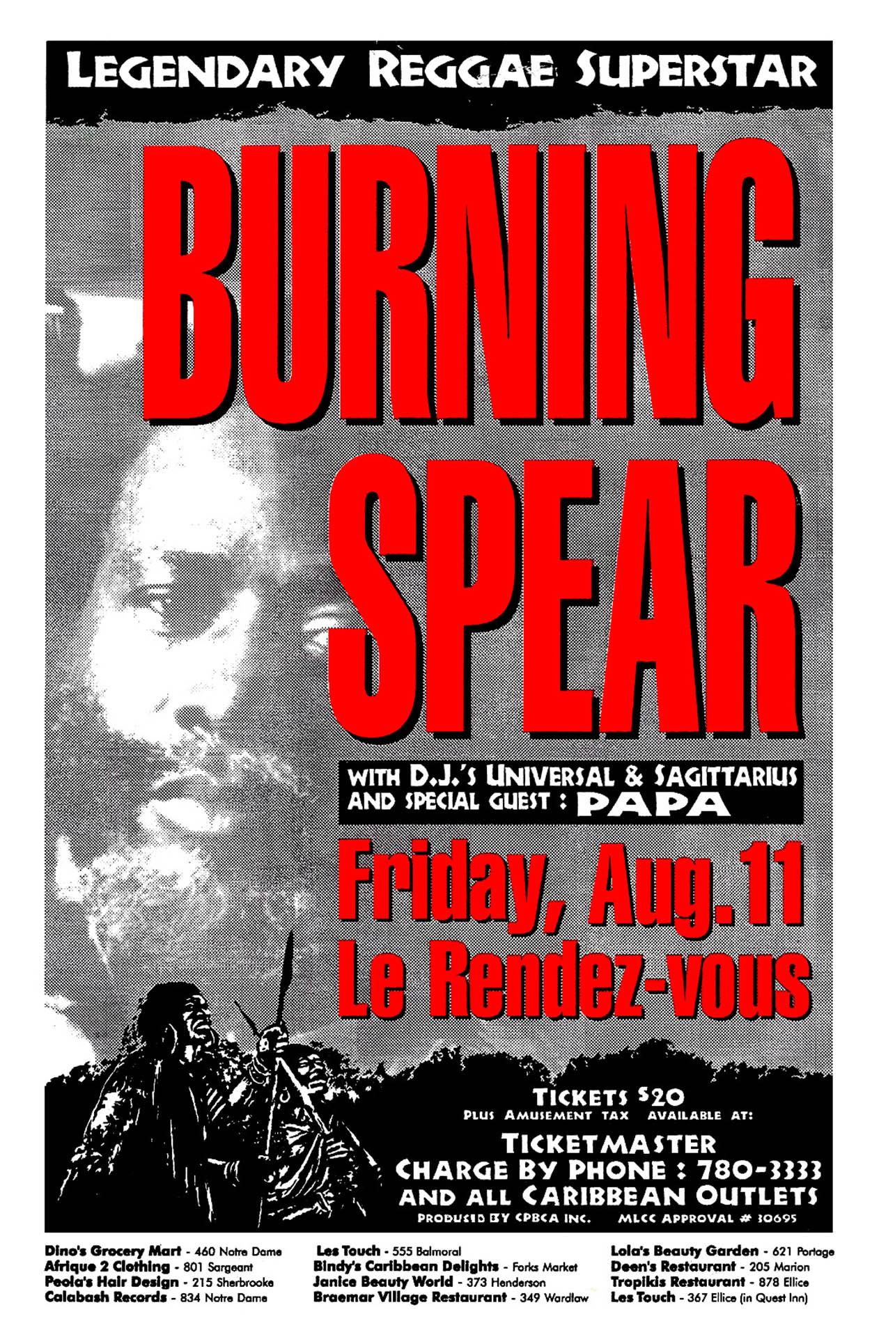 Burning Spear - 1995