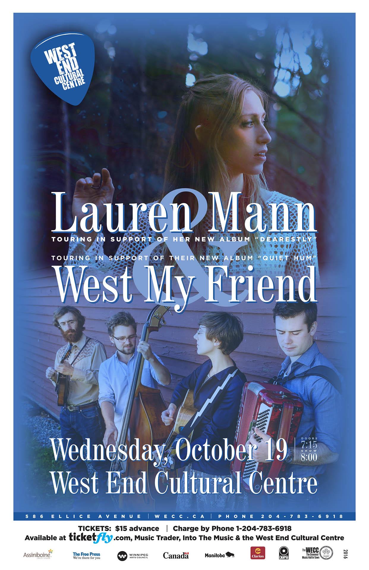 Lauren Mann & West My Friend - 2016