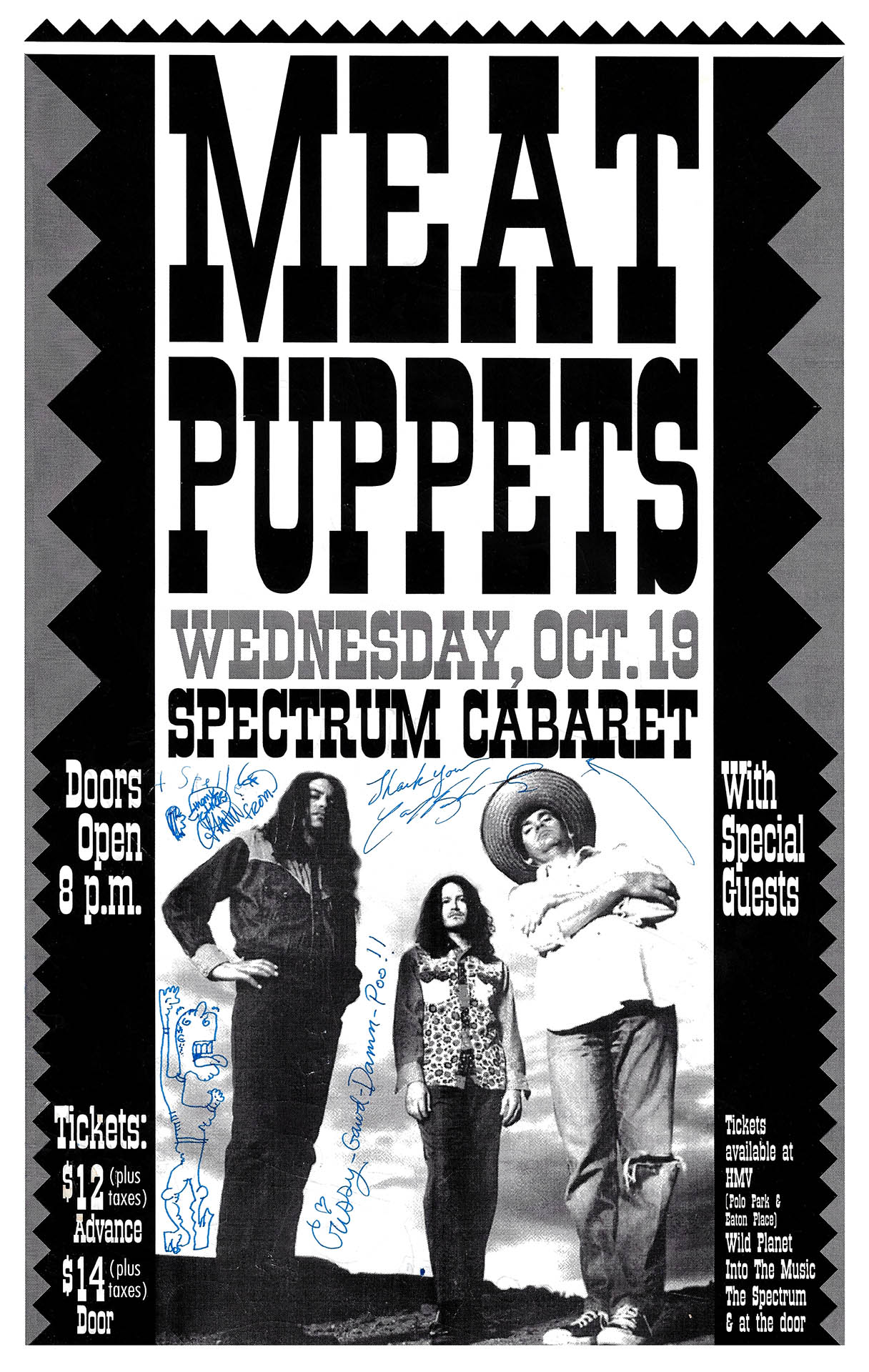 Meat Puppets - Signed - 1994