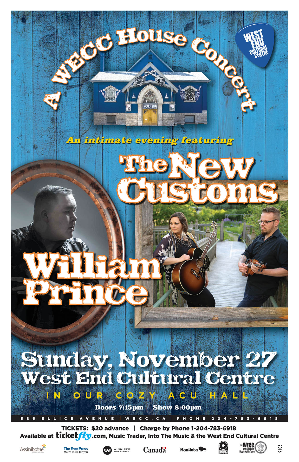 William Prince & The New Customs - 2016