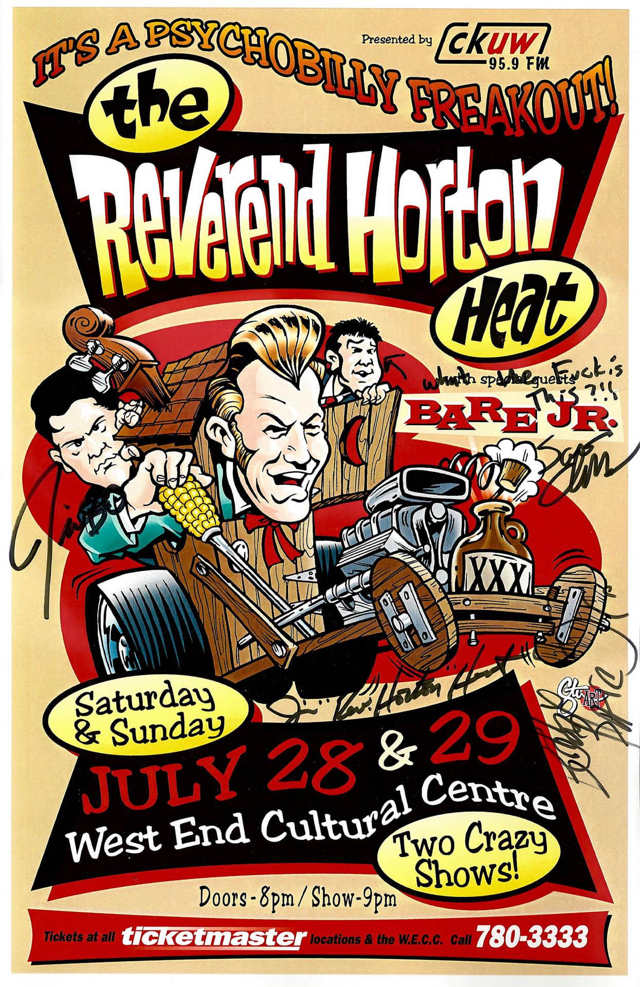 The Reverend Horton Heat  - Signed - 2001