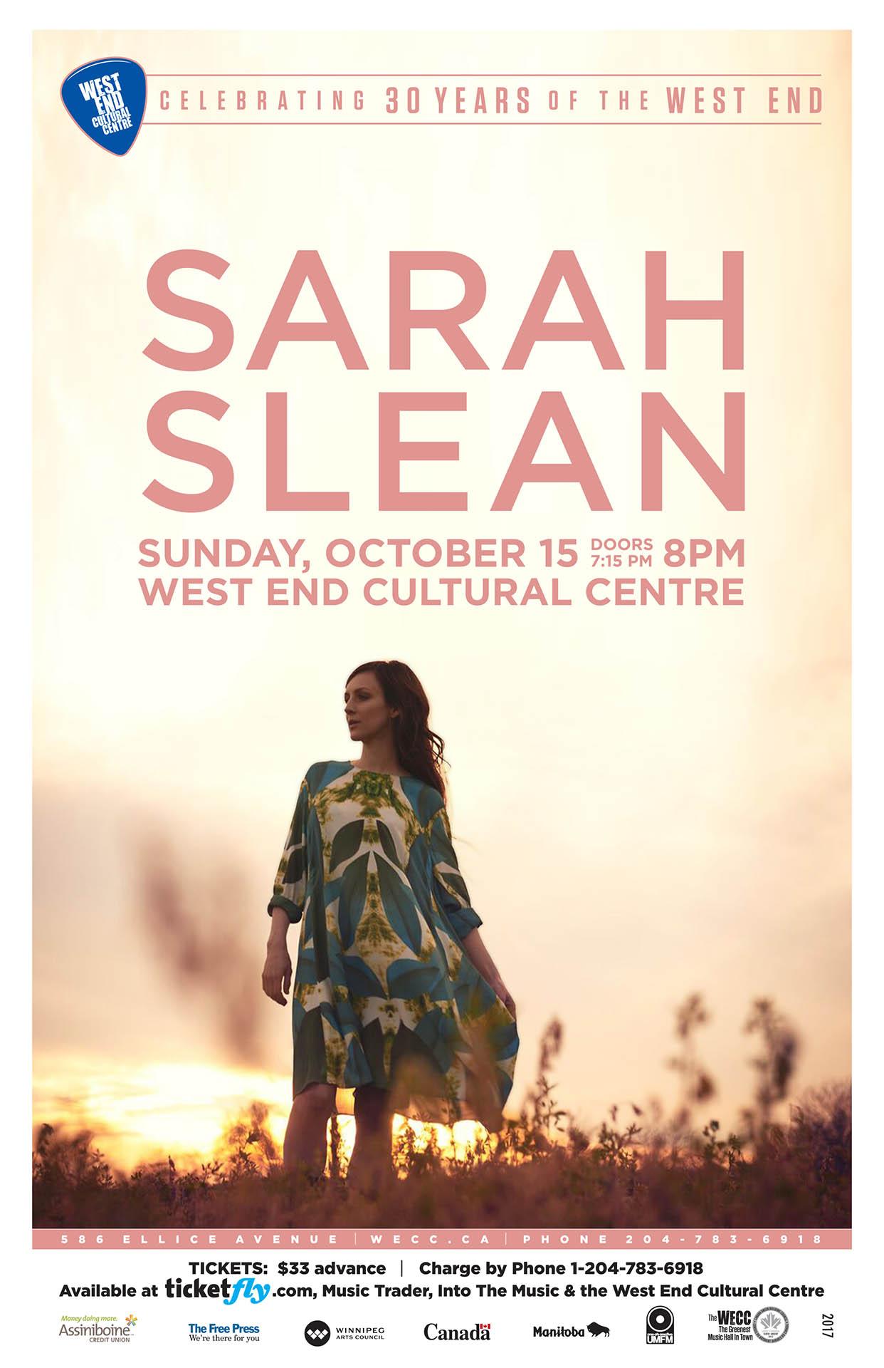 Sarah Slean - 2017
