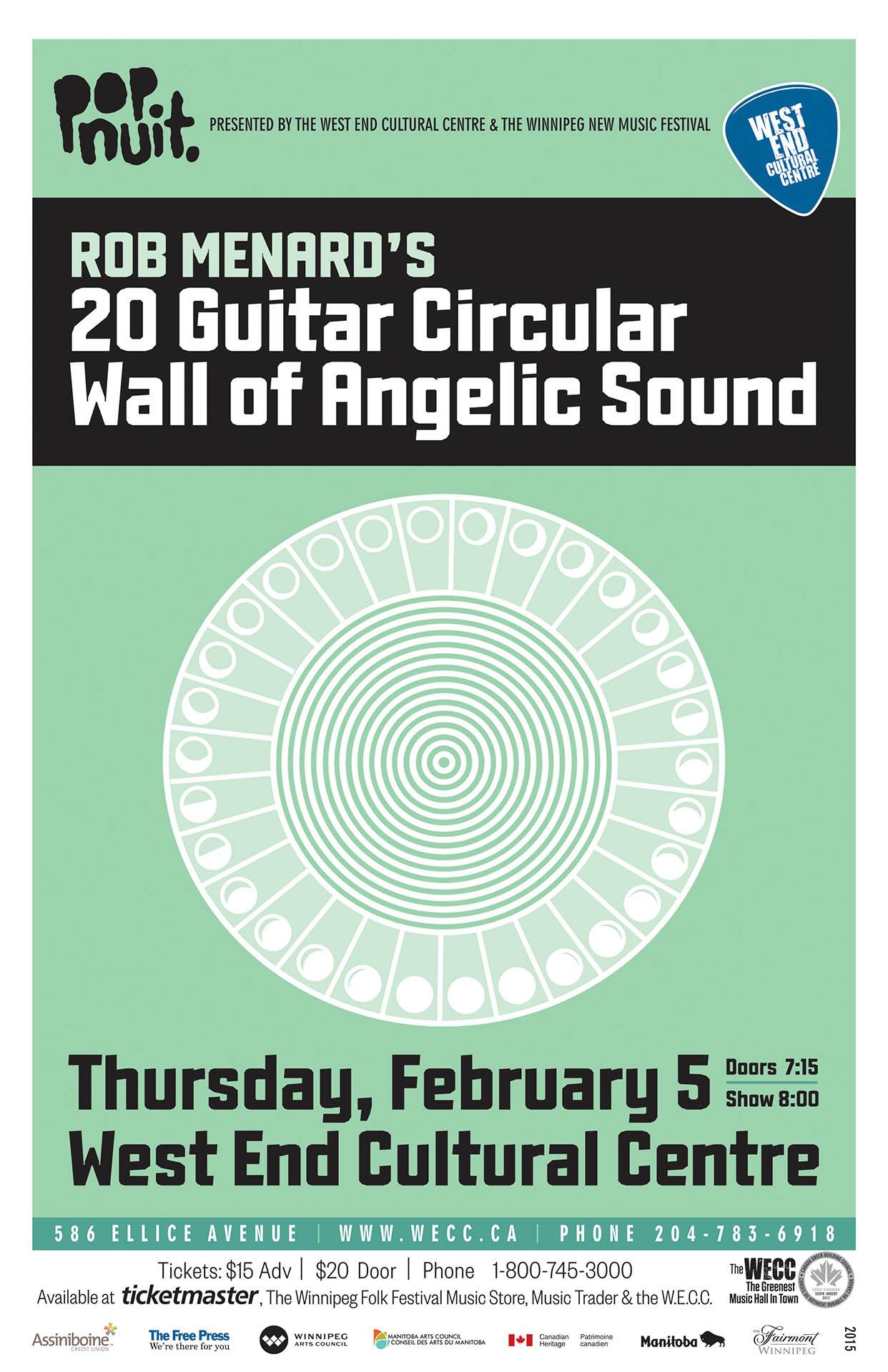 Rob Menard's 20 Guitar Circular Wall of Angelic Sound - 2015
