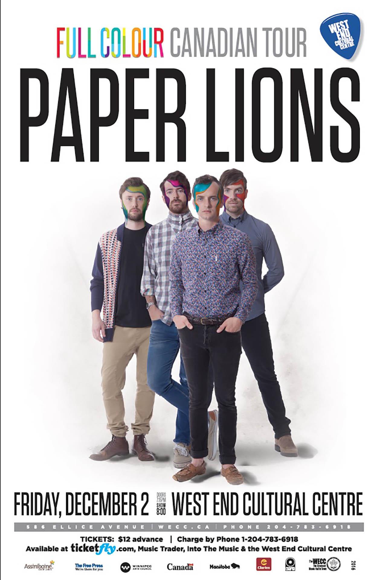PAPER LIONS – 2016