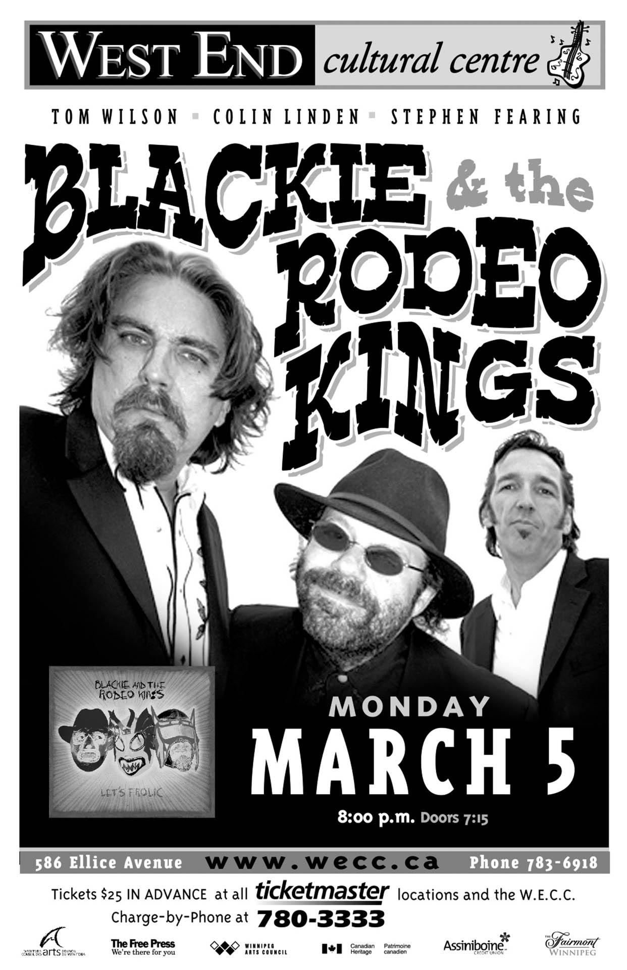 BLACKIE & THE RODEO KINGS – 2007
