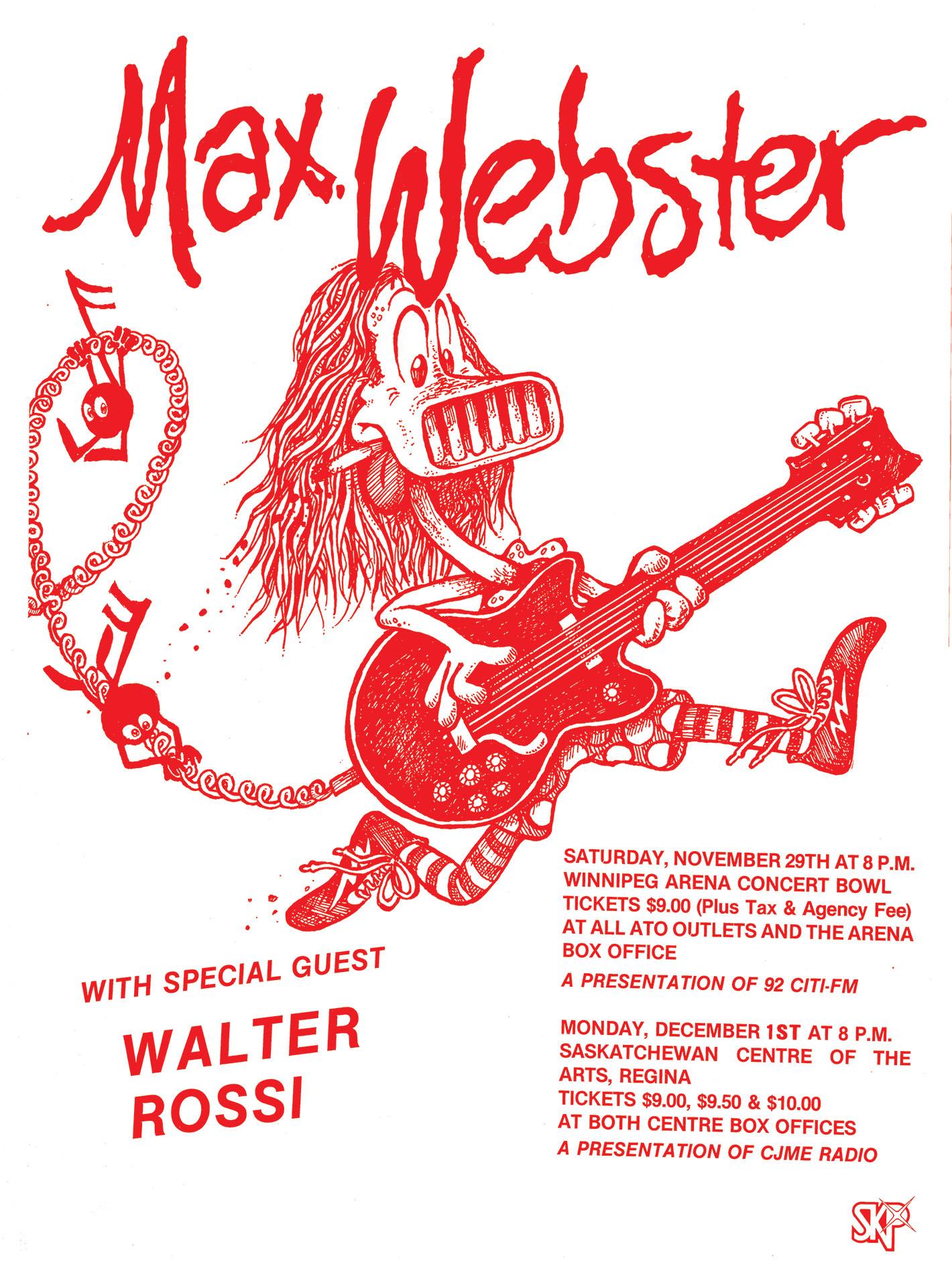 MAX WEBSTER – 1980