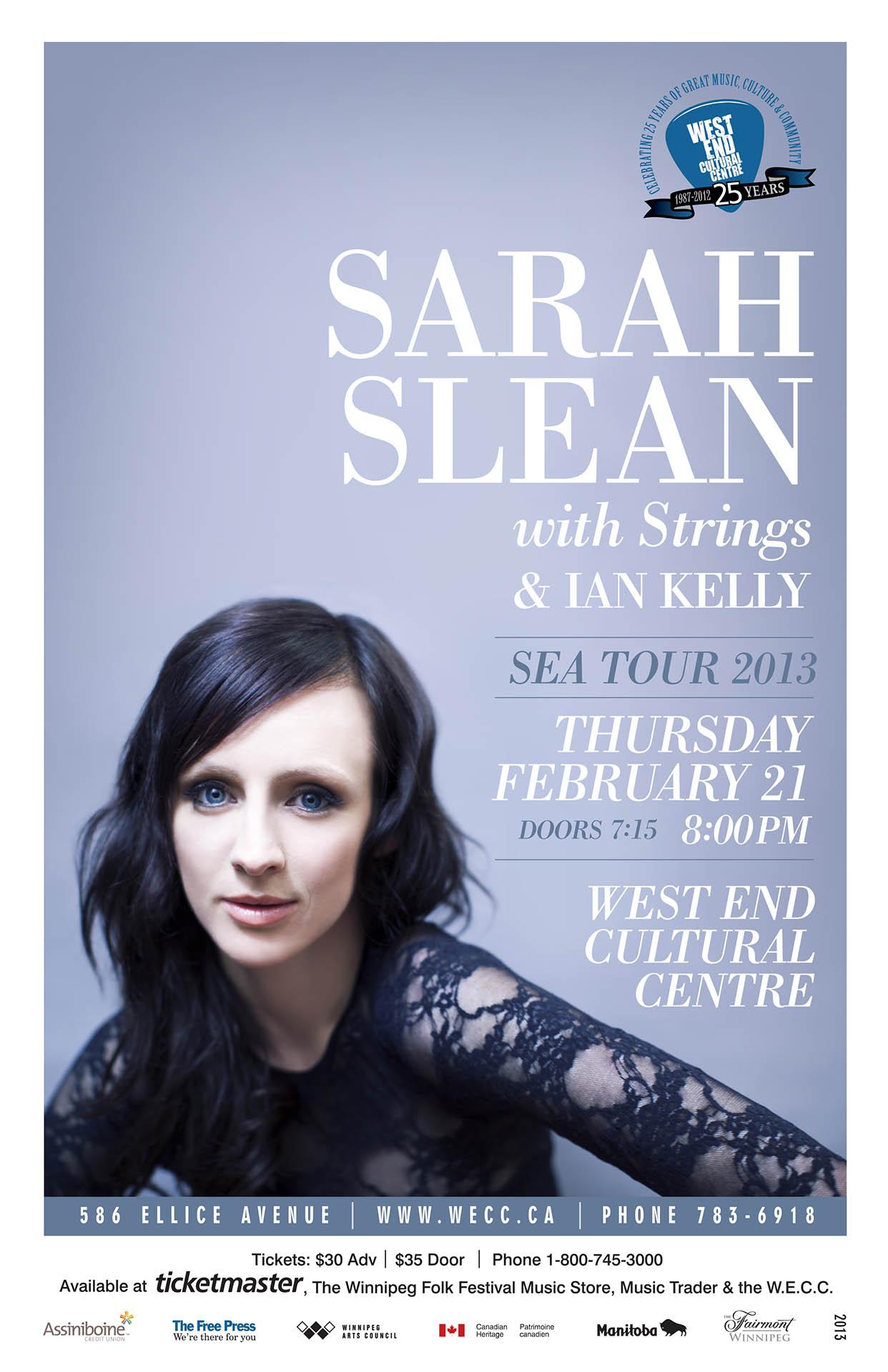 SARAH SLEAN – 2013