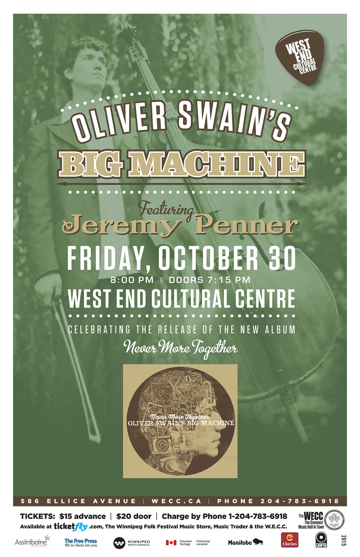 Oliver Swain's Big Machine - 2015