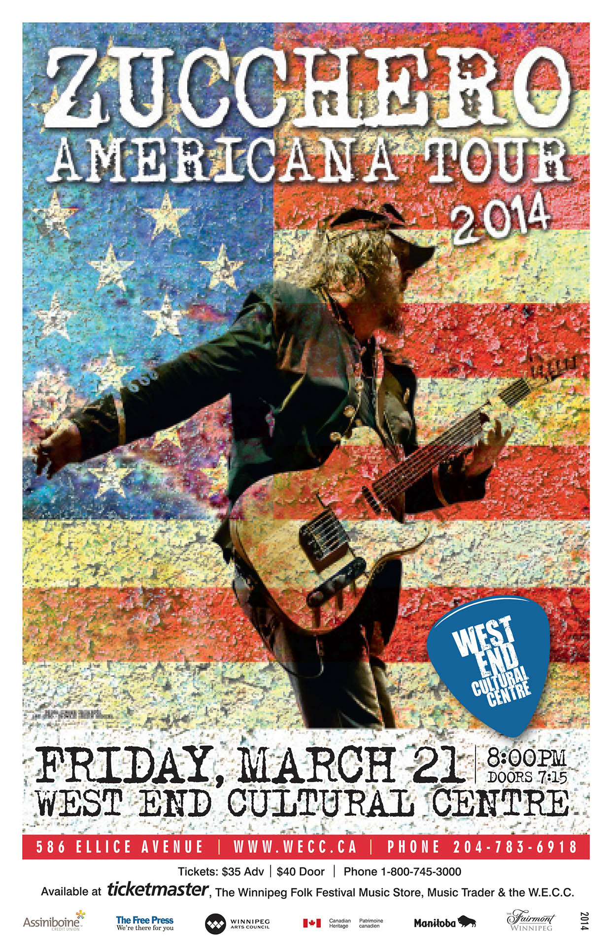 Zucchero American Tour – 2014