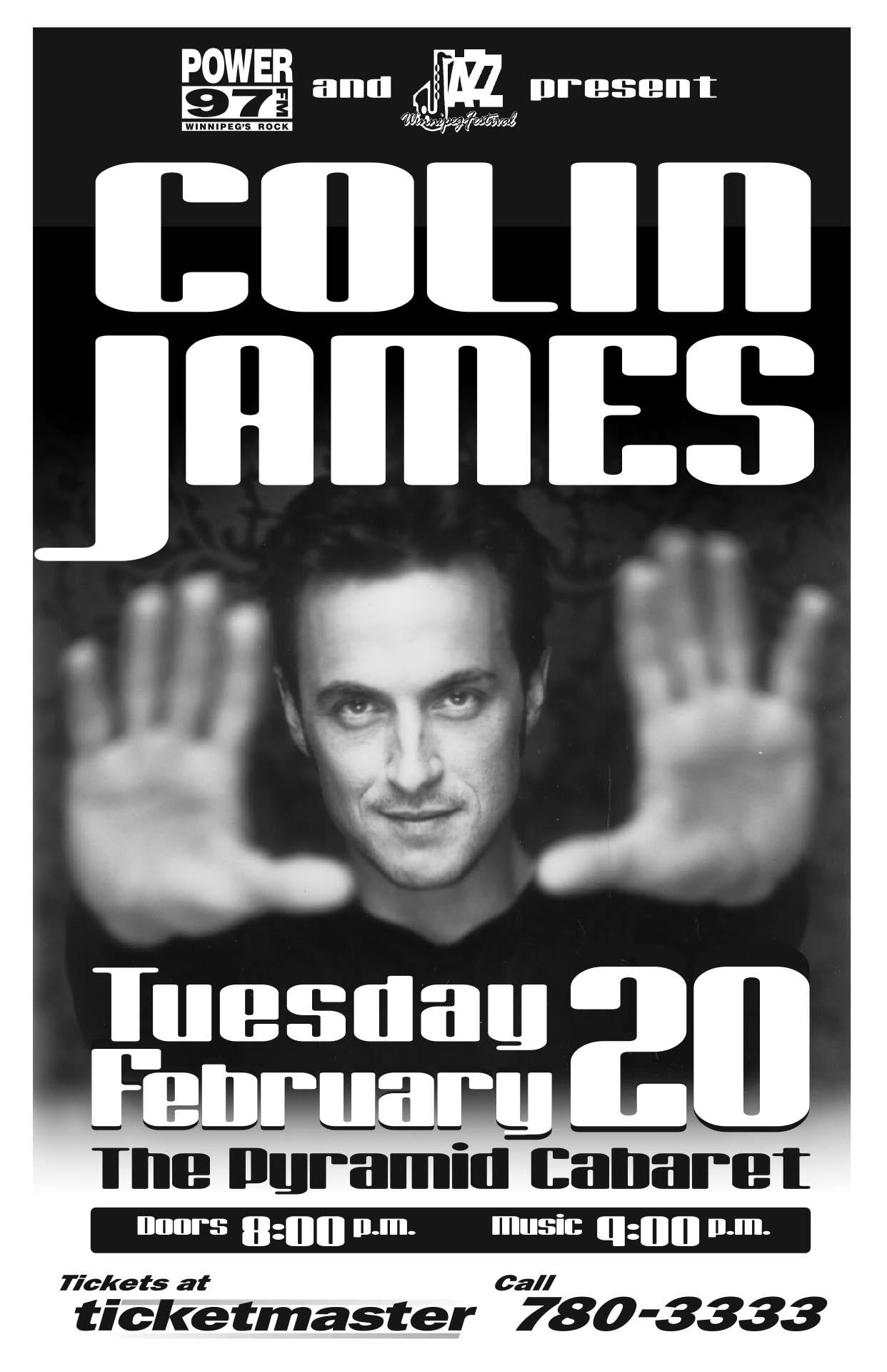 COLIN JAMES – 2001