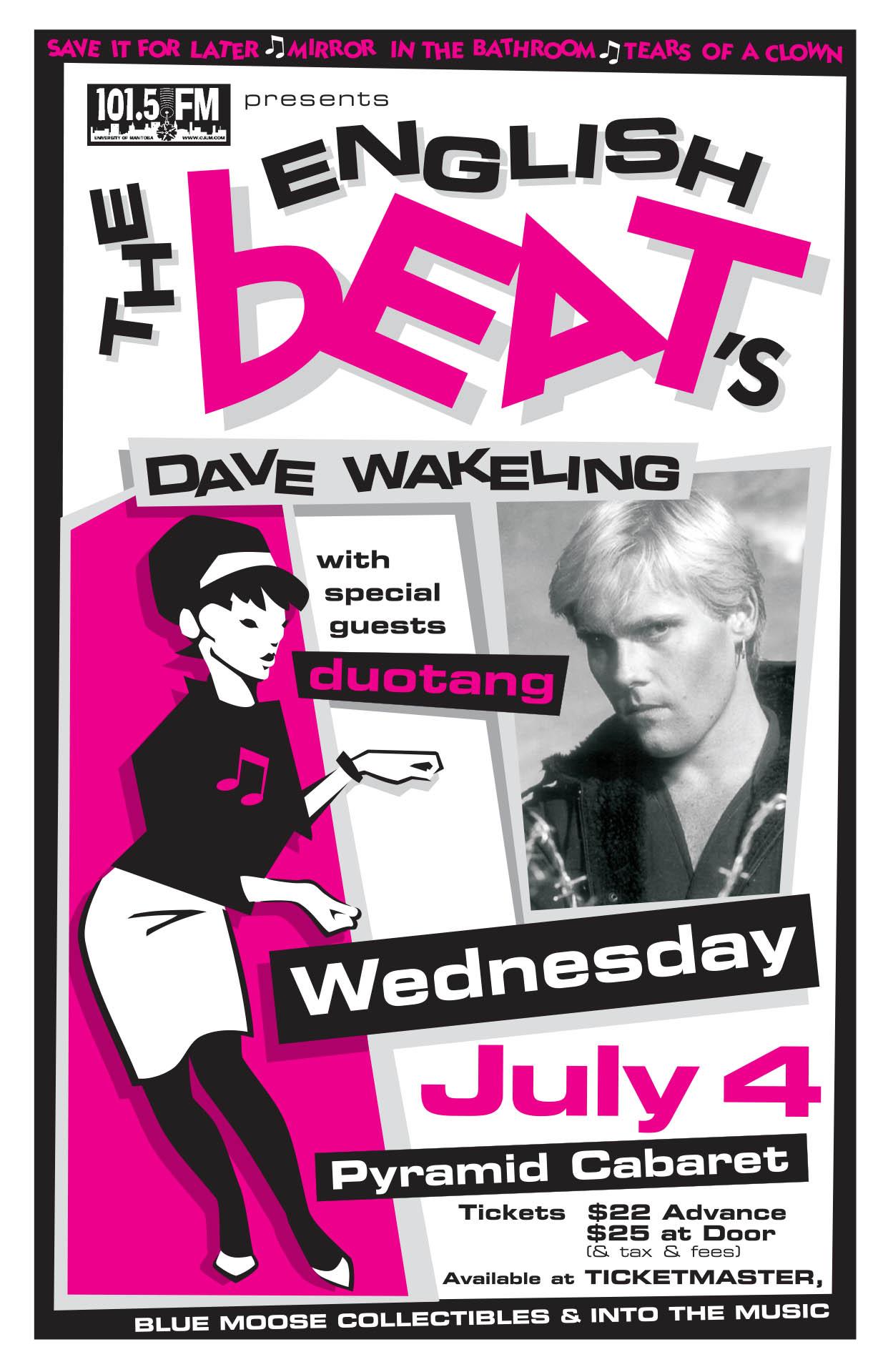 ENGLISH BEAT'S DAVE WAKELING – 2001