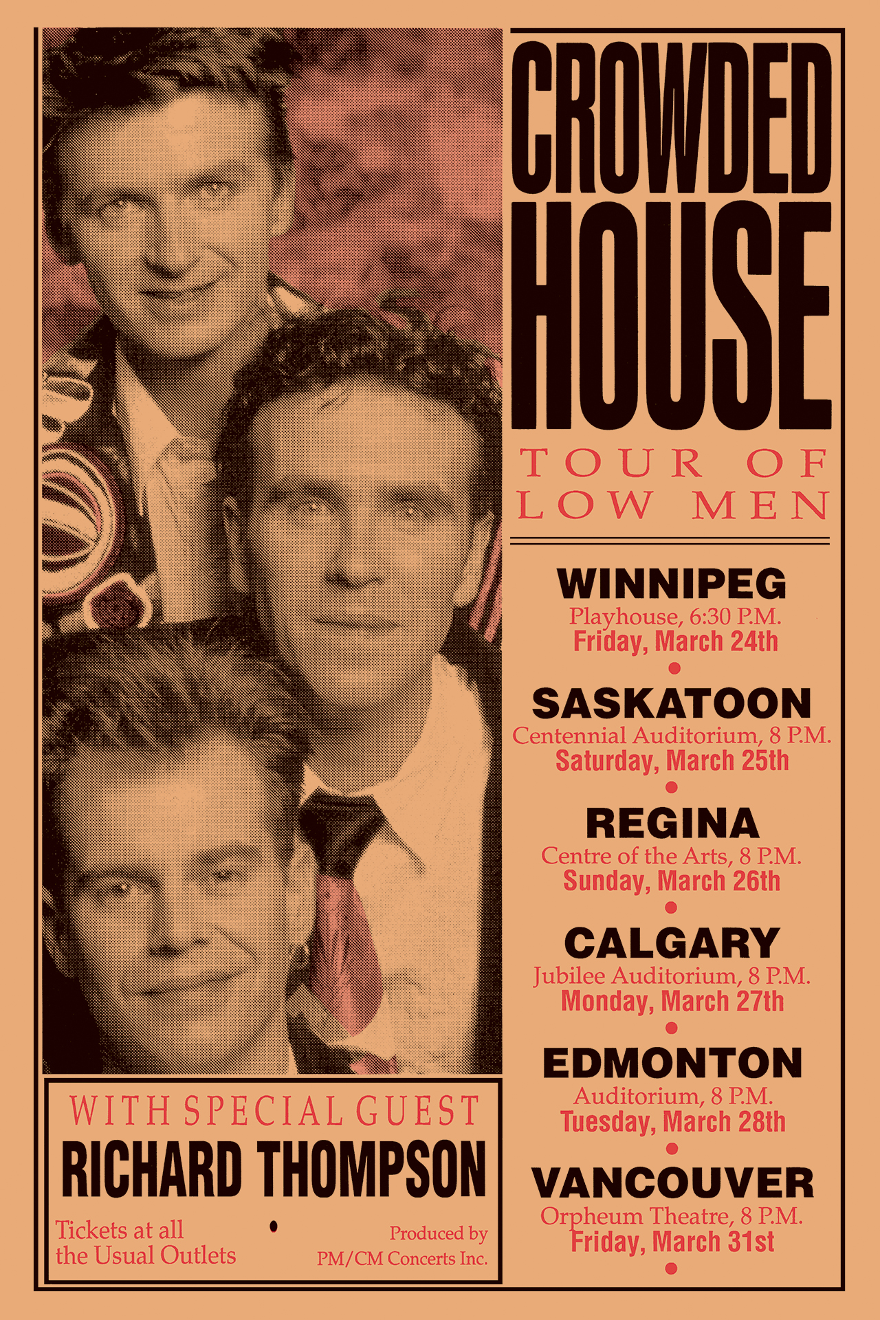 CROWDED HOUSE & RICHARD THOMPSON – 1989
