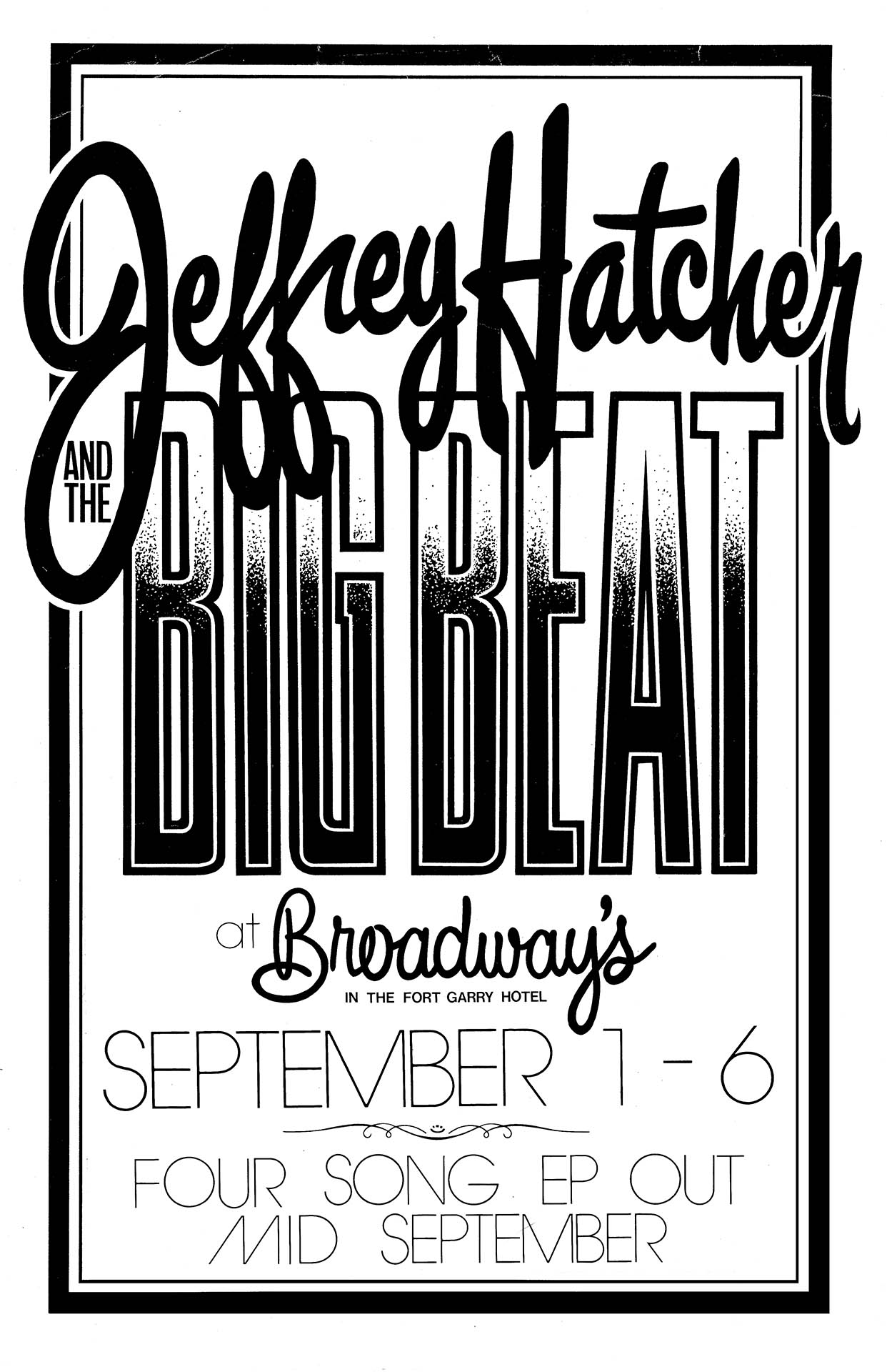 JEFFREY HATCHER & THE BIG BEAT – 1986