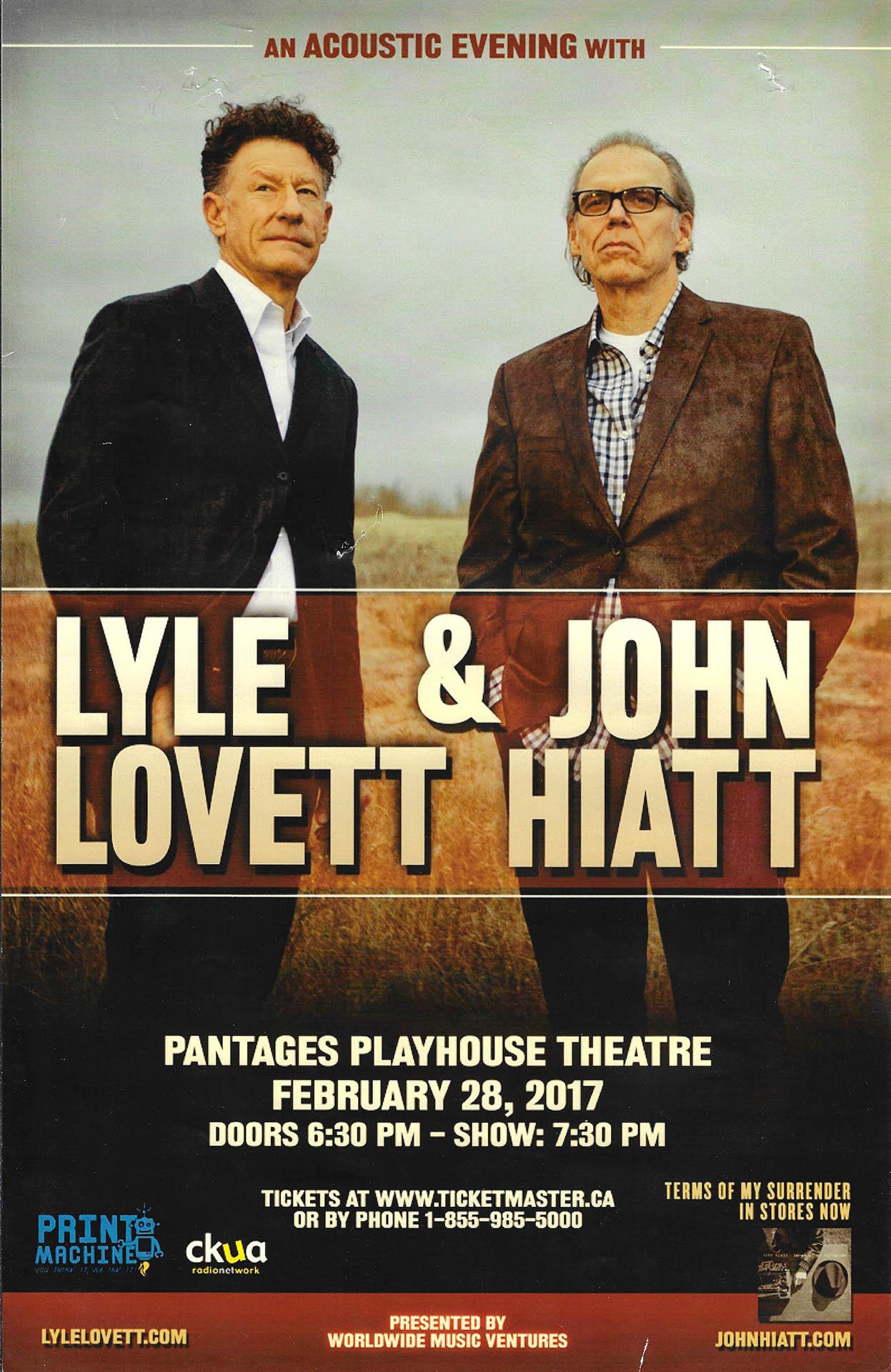 Lyle Lovett & John Hiatt – 2017