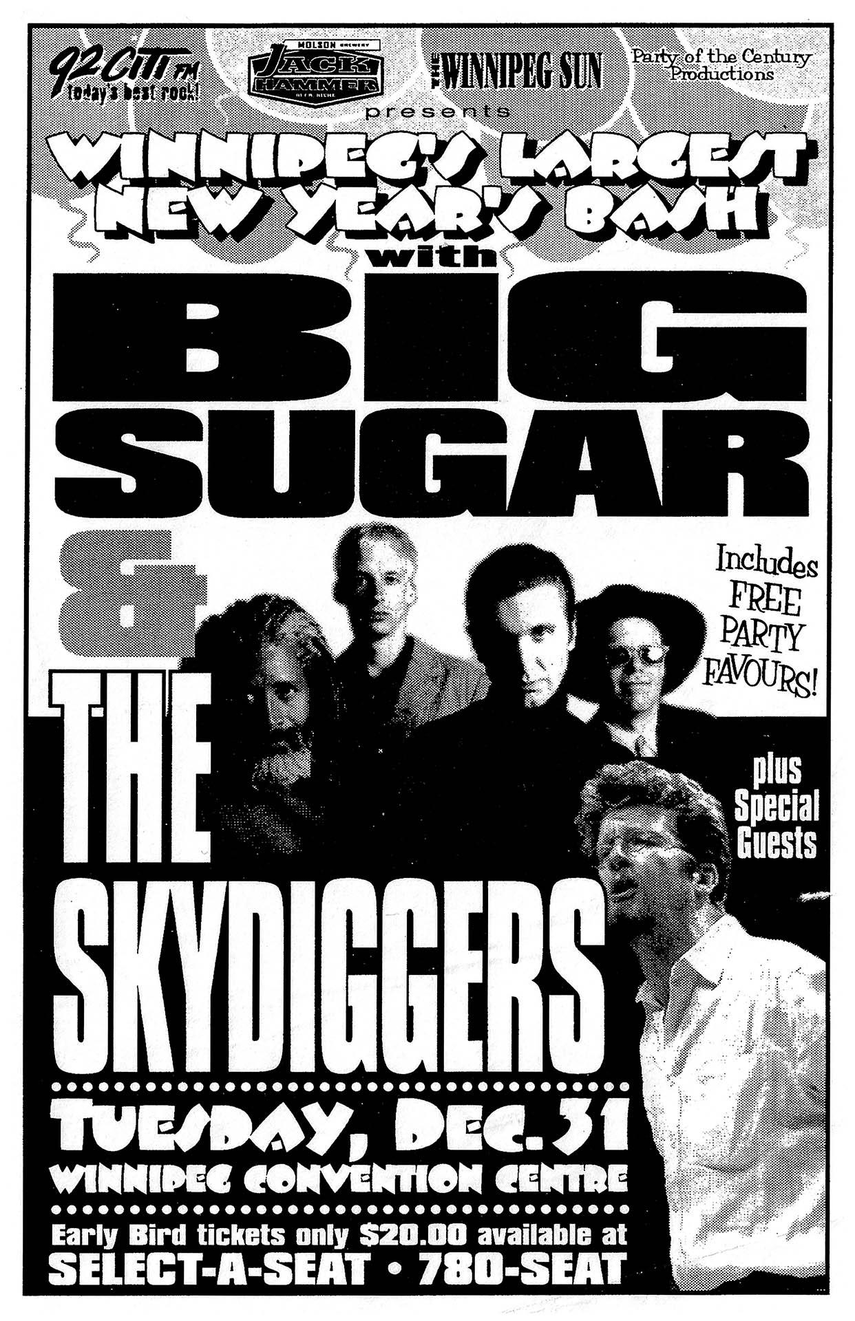 BIG SUGAR & SKYDIGGERS – 1996