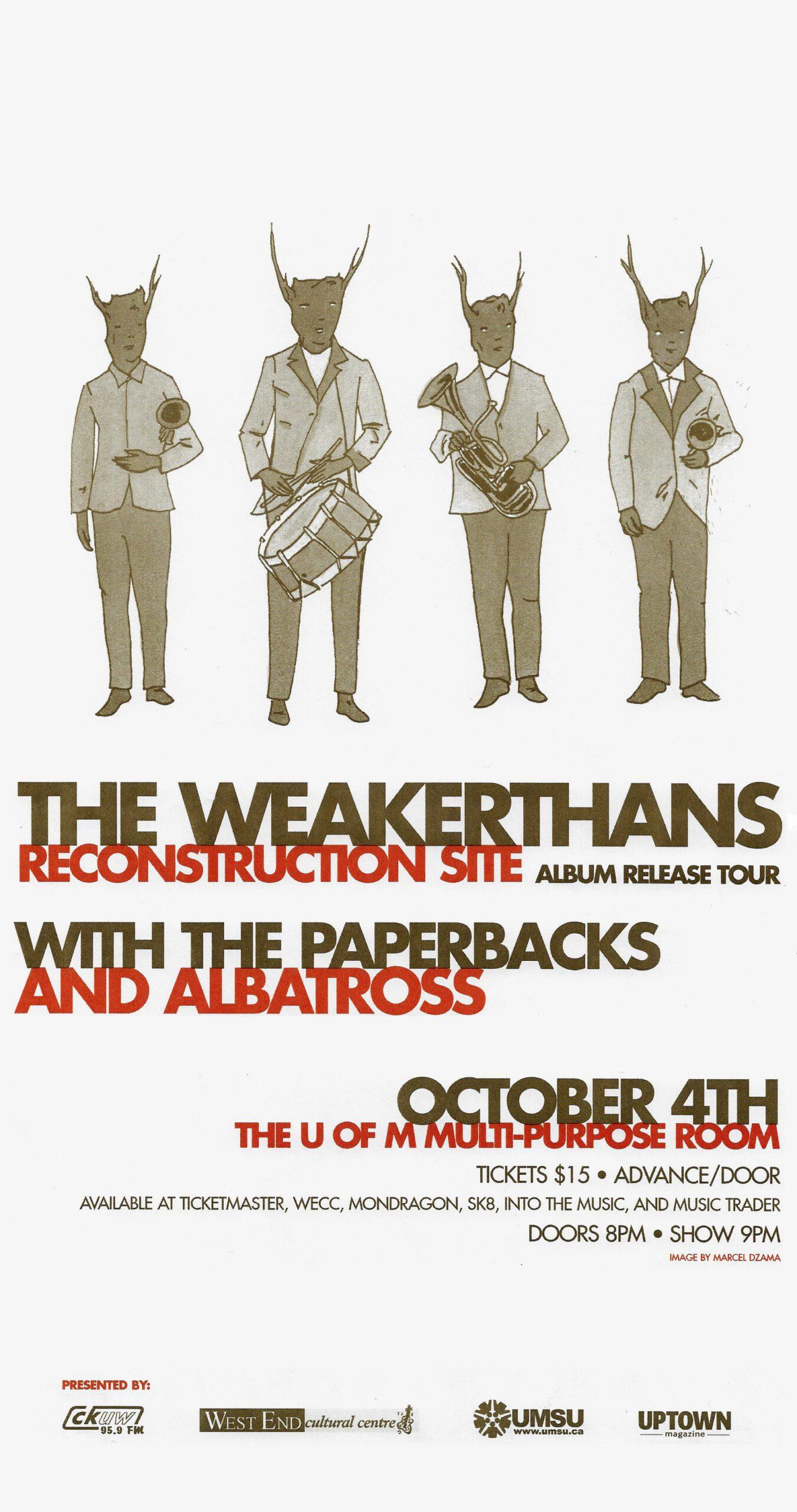 The Weakerthans – 2003 – Non-Stu V