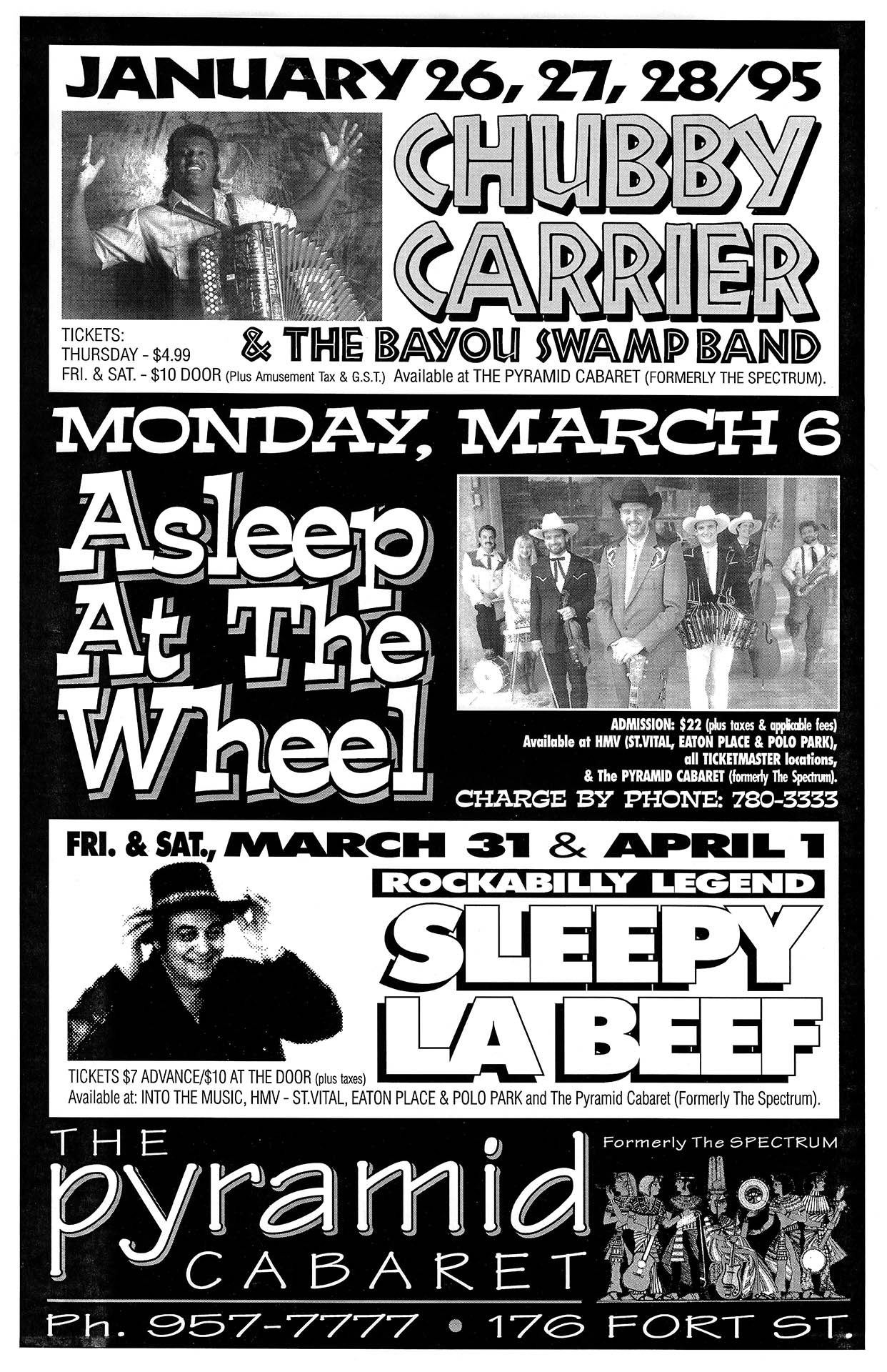 Chubby Carrier / Asleep at the Wheel / Sleepy LaBeef – 1995